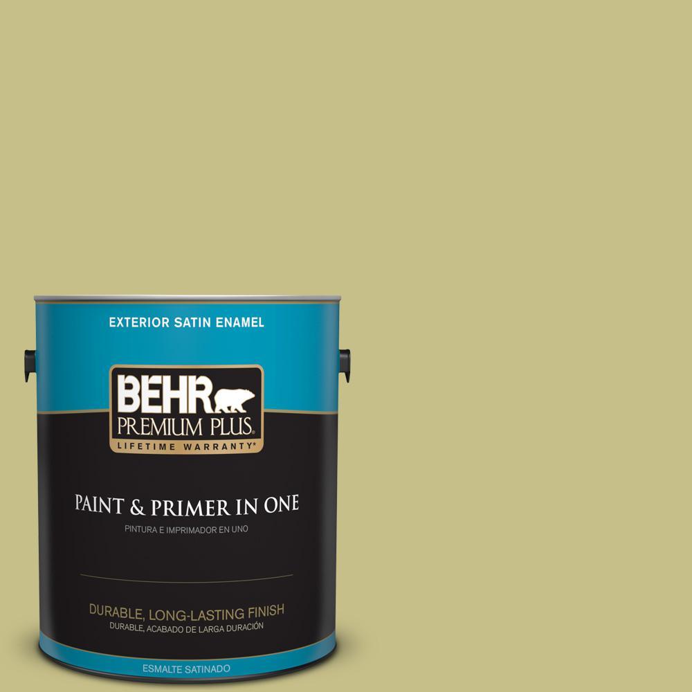 1 gal. #PPU9-11 Wheat Grass Satin Enamel Exterior Paint