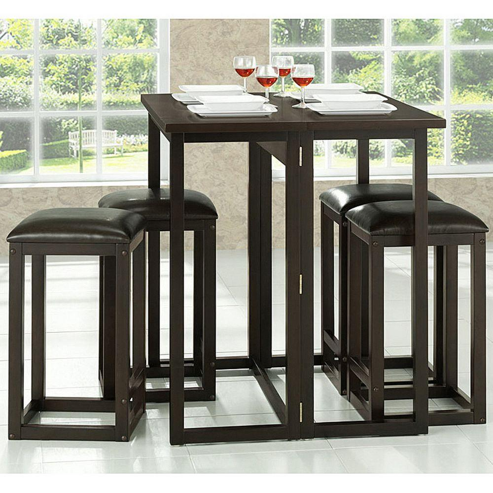 Wood Pub Set ~ Baxton studio leeds piece dark brown pub set