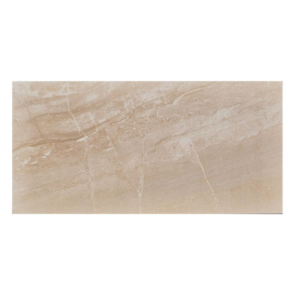 MONO SERRA Pietra Bella Beige 12 in. x 24 in. Porcelain Floor and ...