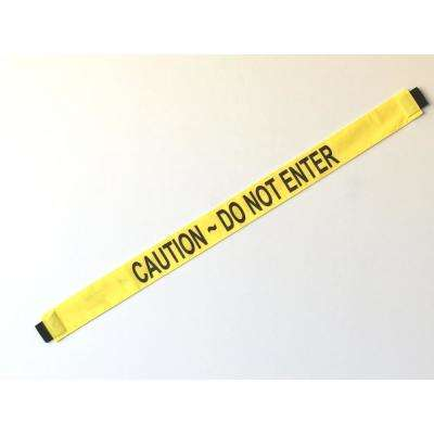 Nylon Caution Do Not Enter Safety Banner with Magnetic Ends Fit's up to a Standard 36 in. W Doorway
