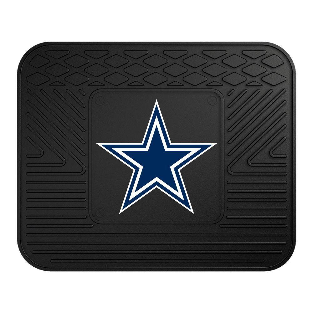 Fanmats Nfl Dallas Cowboys Black Heavy Duty 14 In X 17
