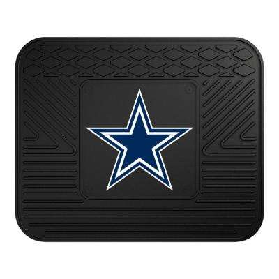 NFL - Dallas Cowboys Black Heavy Duty 14 in. x 17 in. Vinyl Utility Mat