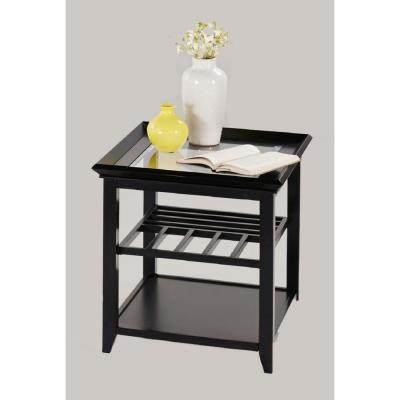 Progressive Furniture Sandpiper Black Rectangular End Table