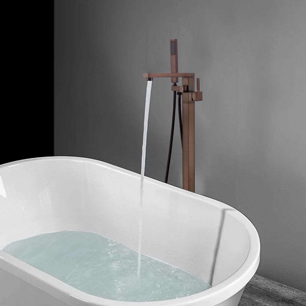 Vanity Art 34 in. H x 12 in. W Single Handle Claw Foot Tub Faucet with Hand Shower in Oil Rubbed Bronze was $404.0 now $262.6 (35.0% off)