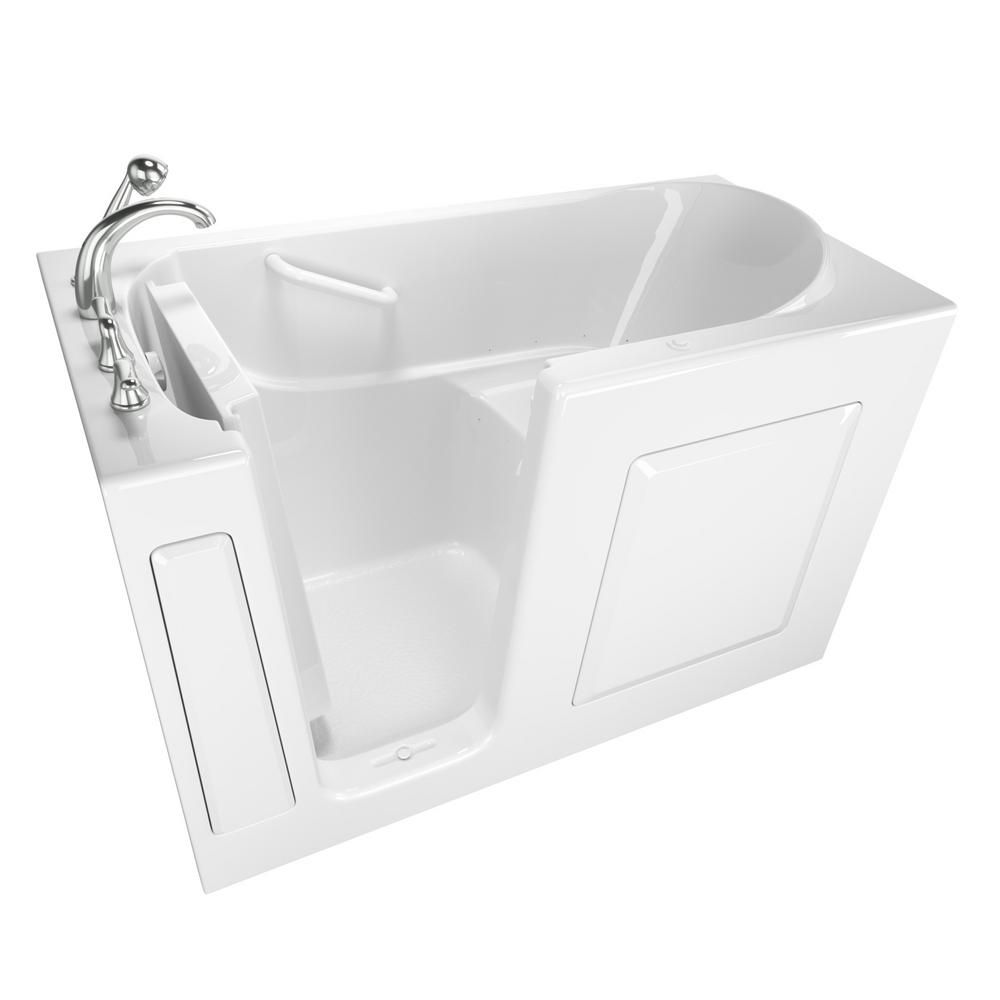 Safety Tubs Value Series 60 in. Left Hand Walk-In Air Bath Bathtub in White