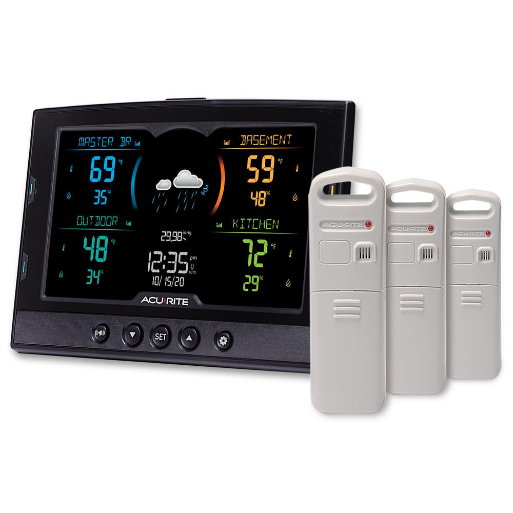 Acurite Temperature And Humidity Weather Station With 3 Sensors