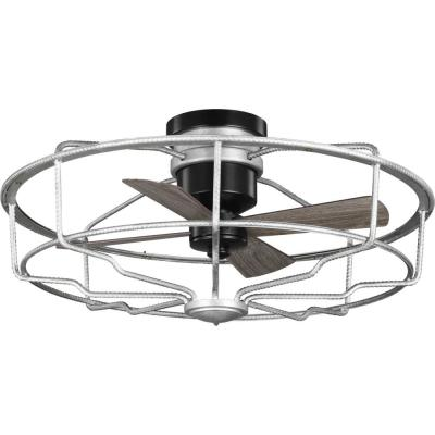 Loring 32 in. Galvanized Caged Ceiling Fan