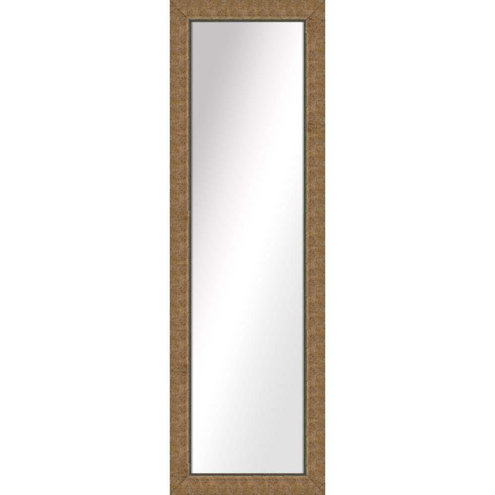 52.5 in. x 16.5 in. Gold Framed Mirror