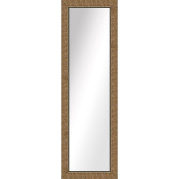 Large Rectangle Gold Art Deco Mirror (52.5 in. H x 16.5 in. W)