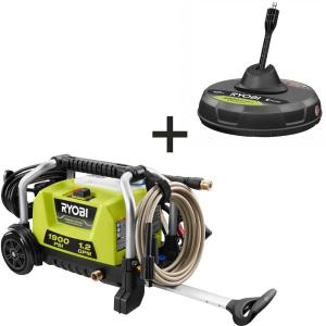 1900 PSI 1.2 GPM Cold Water Wheeled Electric Pressure Washer with 12 in. Surface Cleaner