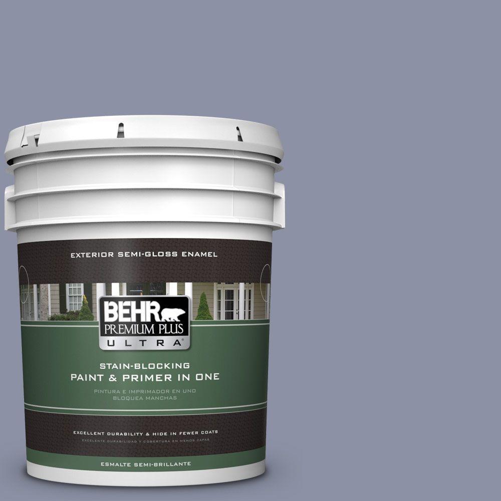BEHR Premium Plus Ultra 5-gal. #620F-4 Violet Shadow Semi-Gloss Enamel Exterior Paint