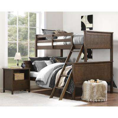 Maxton Mocha Twin Over Full Bunk Bed