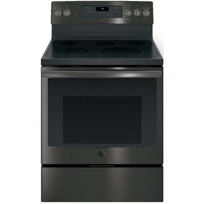 Adora 5.3 cu. ft. Electric Range with Self-Cleaning Convection Oven in Black Stainless Steel, Fingerprint Resistant