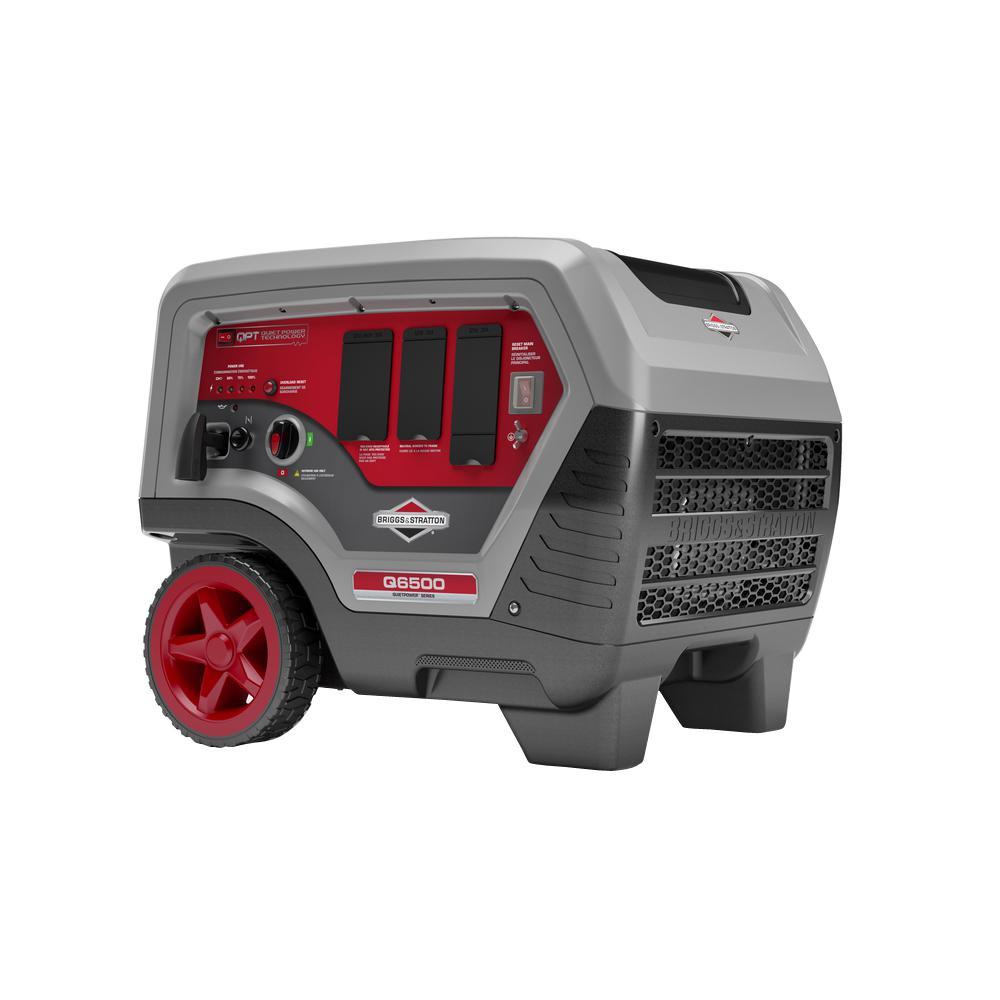 Briggs & Stratton Q6500 QuietPower Series 6,500-Watt Gasoline Powered Portable Inverter Generator with Briggs and Stratton Engine