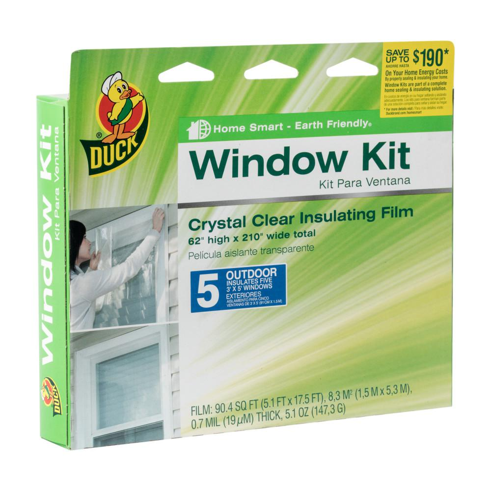 62 in. x 210 in. Crystal Clear Outdoor Window Kit Shrink