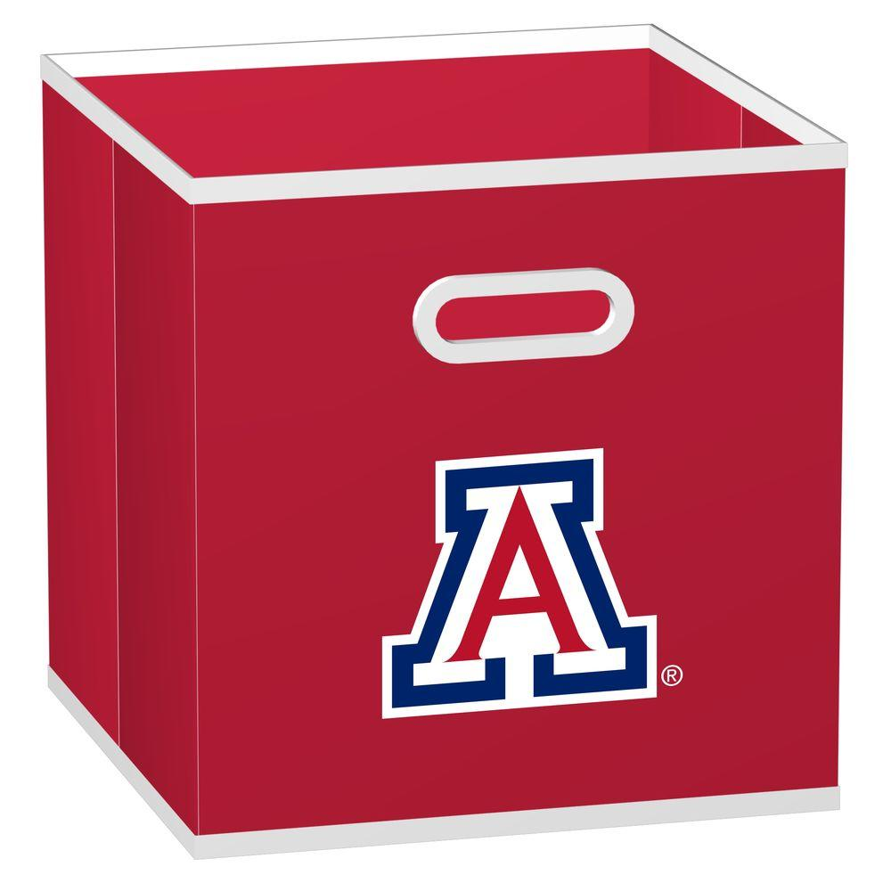 null College STOREITS University of Arizona 10-1/2 in. W x 10-1/2 in. H x 11 in. D Red Fabric Storage Drawer