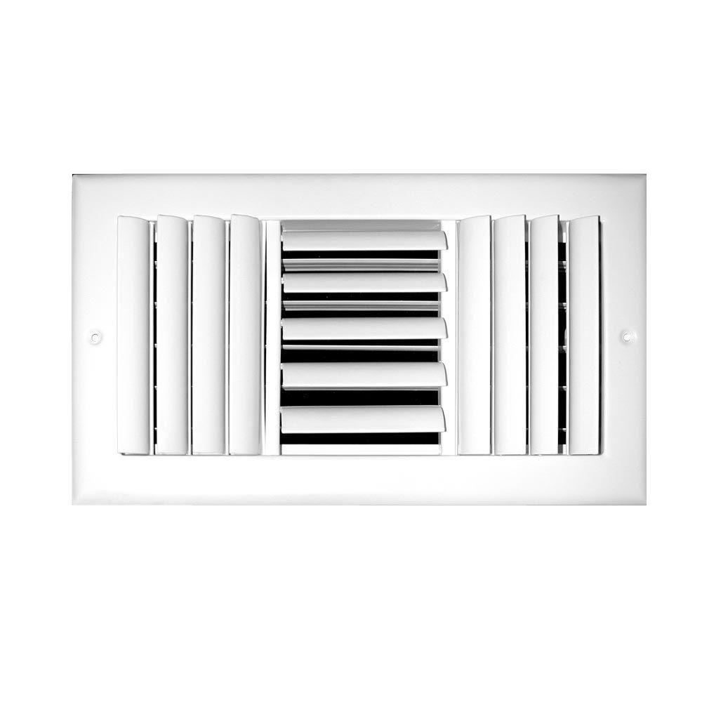 10 in. x 8 in. 3-Way Adjustable Curved Blade Wall/Ceiling Register