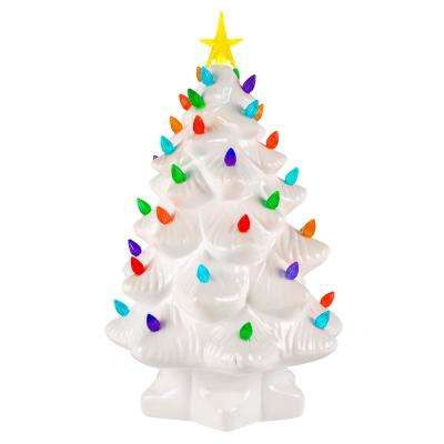 christmas porcelain nostalgic tree in white