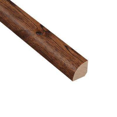 Wire Brushed Gunstock Oak 3/4 in. Thick x 3/4 in. Wide x 94 in. Length Hardwood Quarter Round Molding
