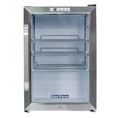 2.5 cu. ft. Countertop Beverage Cooler Merchandiser in Stainless Steel