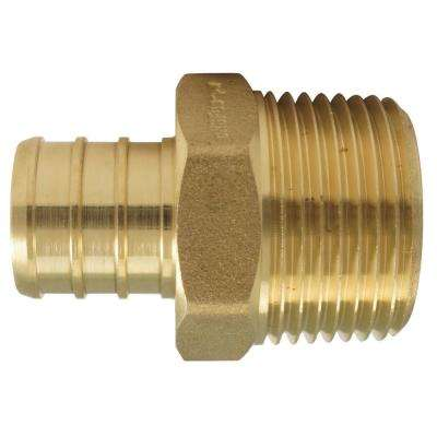 3/4 in. Brass PEX Barb x Male Pipe Thread Adapter (50-Pack)