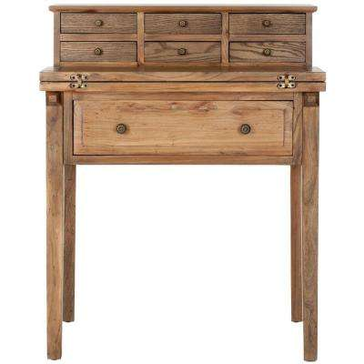 Abigail Oak Desk with Drawers