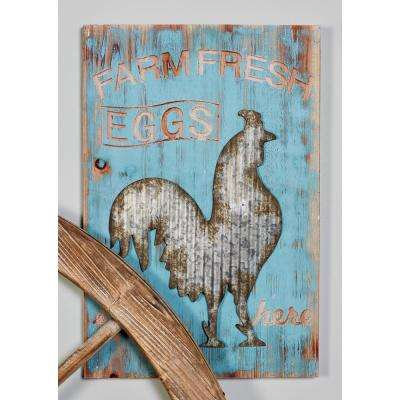 "24 in. x 16 in. ""Farm Fresh"" Painted Wood Wall Art (Set of 2)"