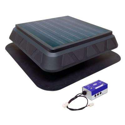 30-Watt Low Profile Solar Powered Roof Mount Exhaust Fan
