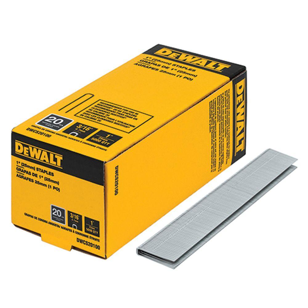 1 in. x 20-Gauge 3/16 in. Crown Glue Collated Hardwood Flooring