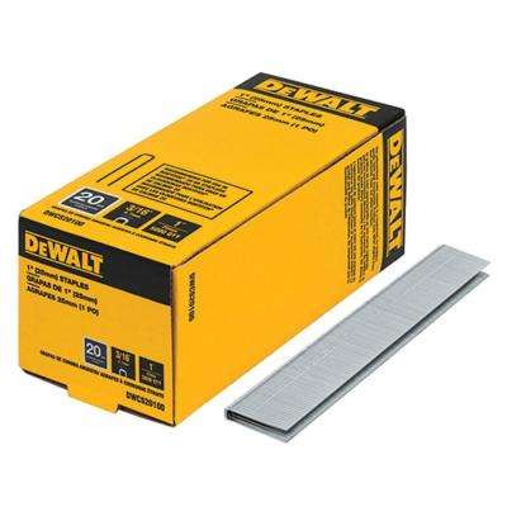 1 in. x 20-Gauge 3/16 in. Crown Glue Collated Hardwood Flooring Staple (5,000 per Box)
