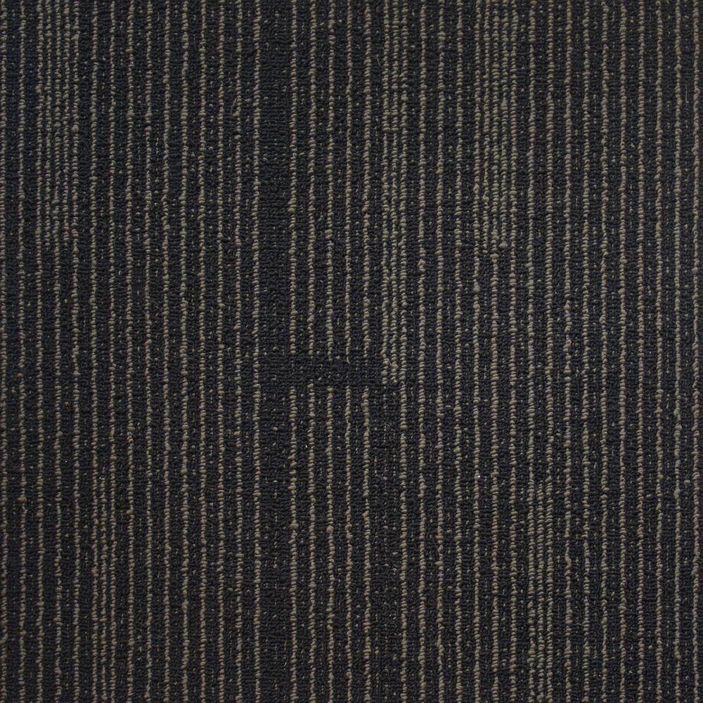 Windsor Terrace Navy Loop 19.7 in. x 19.7 in. Carpet Tile (20 Tiles/Case)