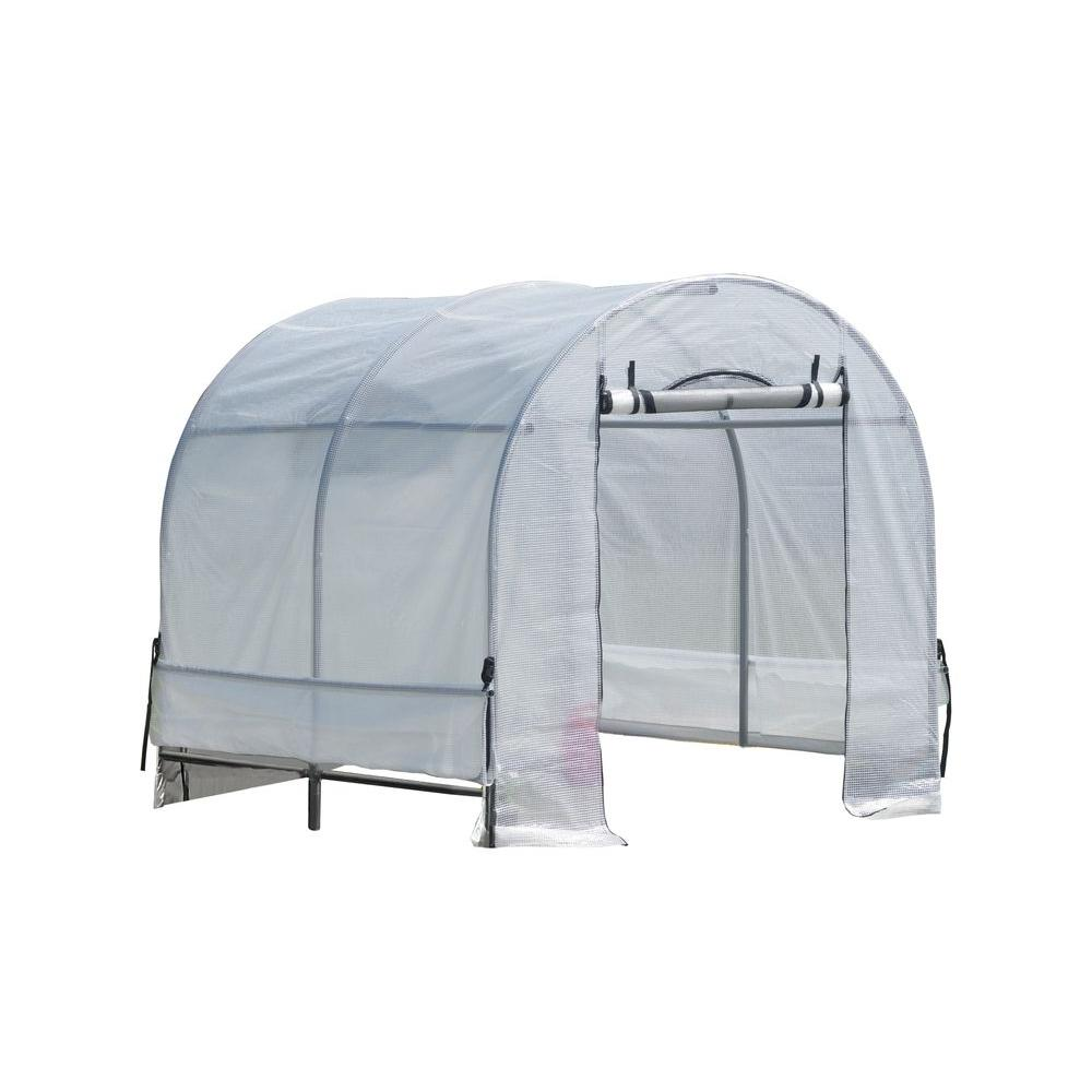 ShelterLogic GrowIt 8 ft. x 6 ft. x 6 ft. 6 in. Organic Growers Classic RoundTop Greenhouse-DISCONTINUED