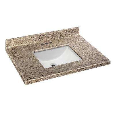 37 in. W x 19 in. D Granite Vanity Top in Giallo Ornamental