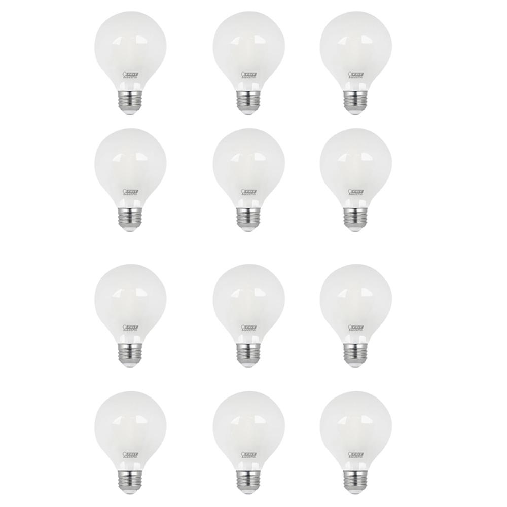 40W Equivalent Daylight (5000K) G25 Dimmable Filament LED Frosted Glass Light