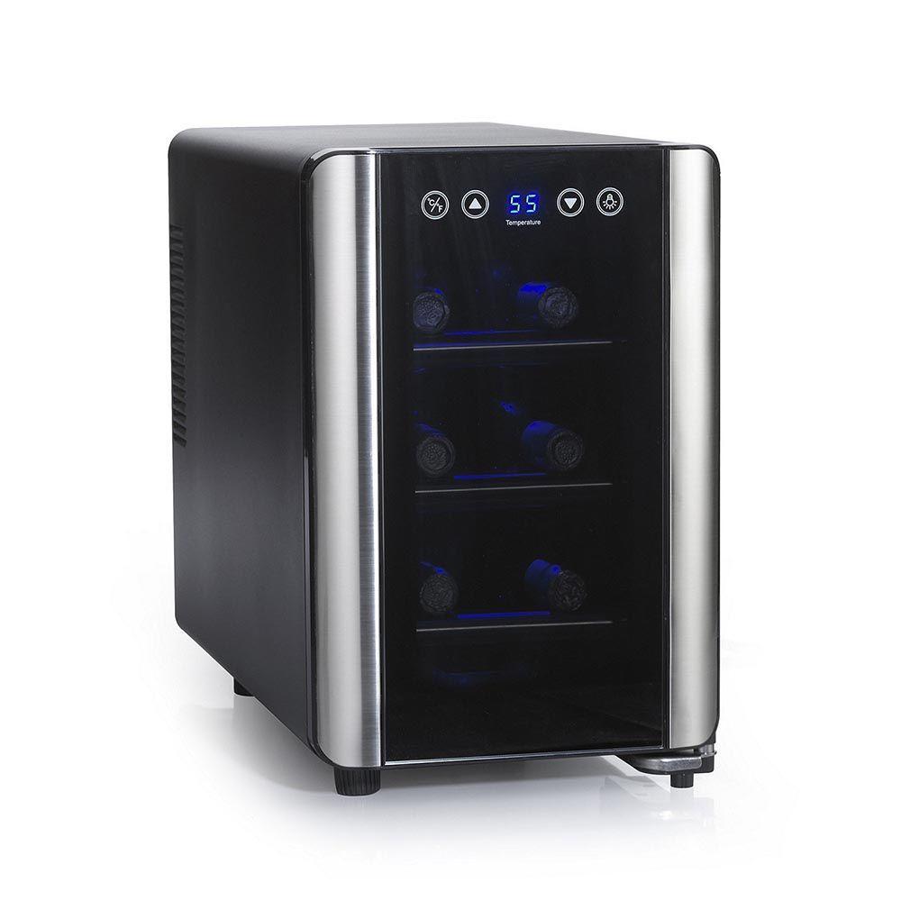 Silent 6-Bottle Touchscreen Wine Cooler