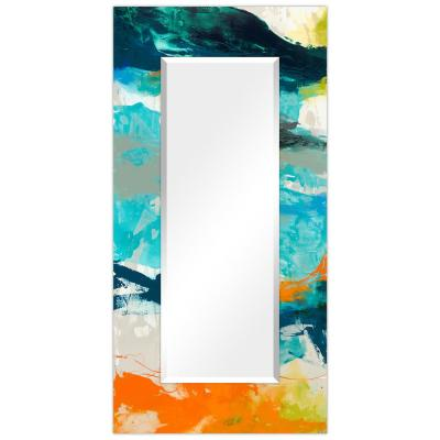 Oversized Rectangle Multicolor Beveled Glass Contemporary Mirror (72 in. H x 36 in. W)