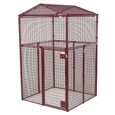 Animal House 60 in. L x 60 in. W x 105 in. H Gable Covered Enclosure