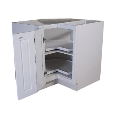 Brookings Plywood Ready to Assemble Shaker 36x34.5x24 in. 2-Door Lazy Susan Corner Base Kitchen Cabinet in White