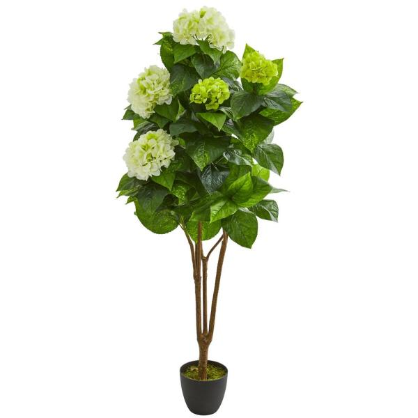 Nearly Natural Indoor 5 in. Hydrangea Artificial Plant 8310