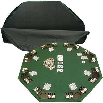 Deluxe Poker and Blackjack Table Top with Case