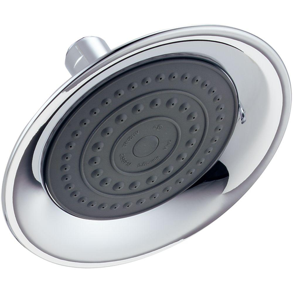 Windemere 1-Spray 6 in. Raincan Shower Head in Chrome