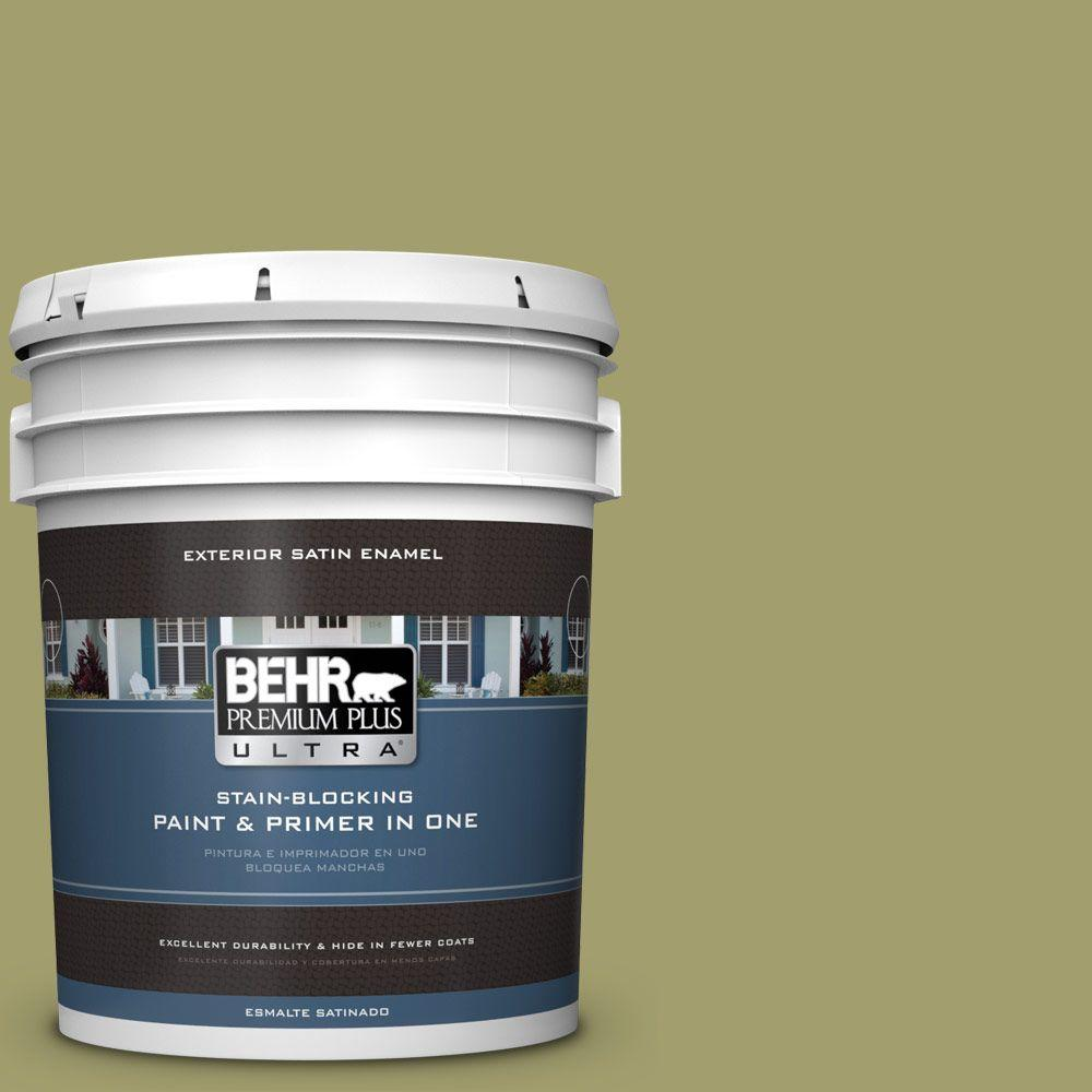 BEHR Premium Plus Ultra 5-gal. #S340-5 Farm Fresh Satin Enamel Exterior Paint
