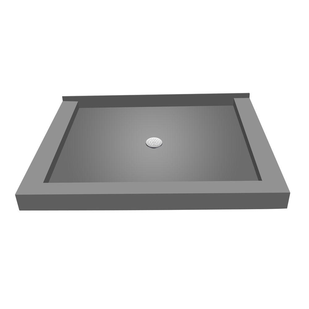 36 in. x 48 in. Triple Threshold Shower Base with Center
