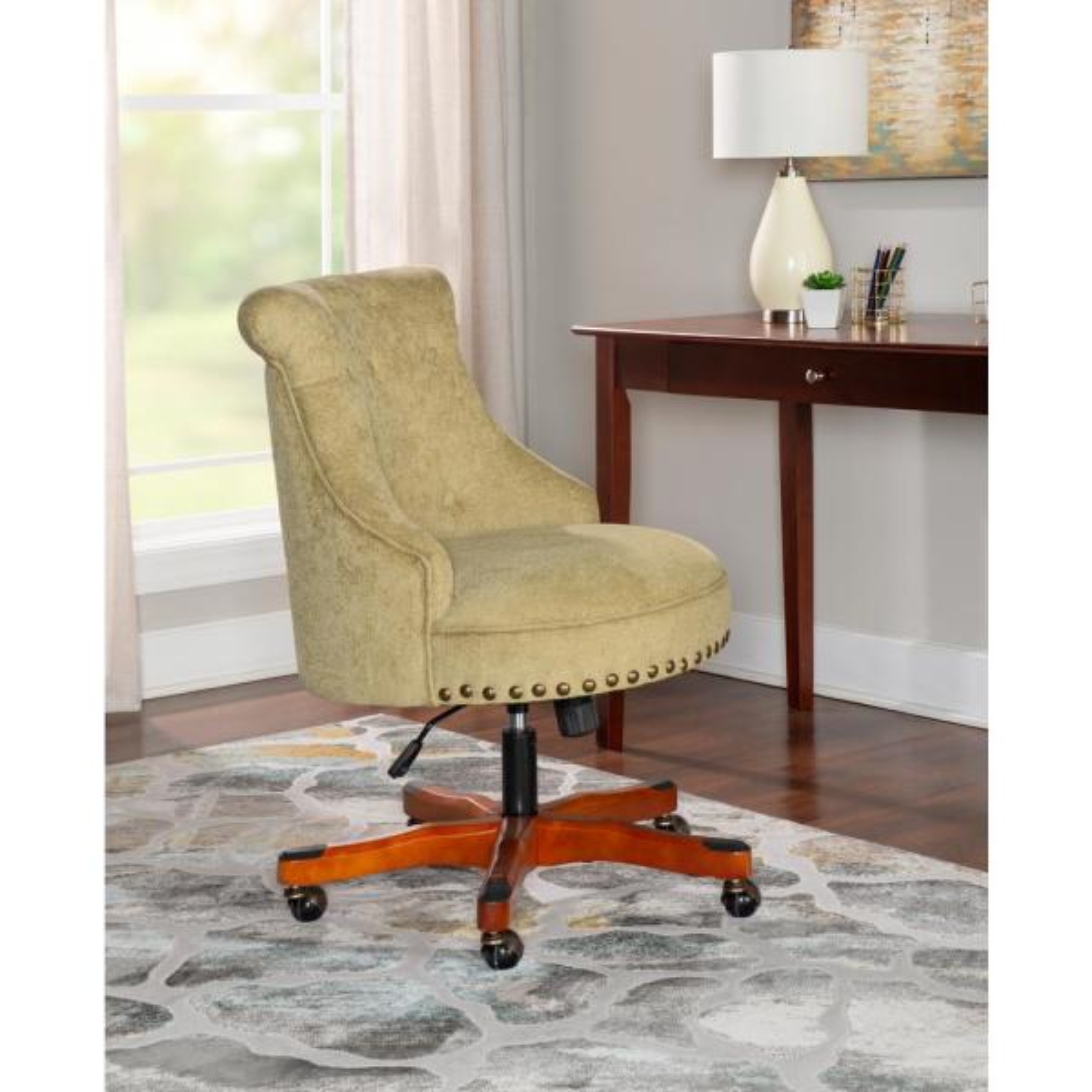 Linon Home Decor Sinclair Green Office Chair 178403grn01u The Home Depot