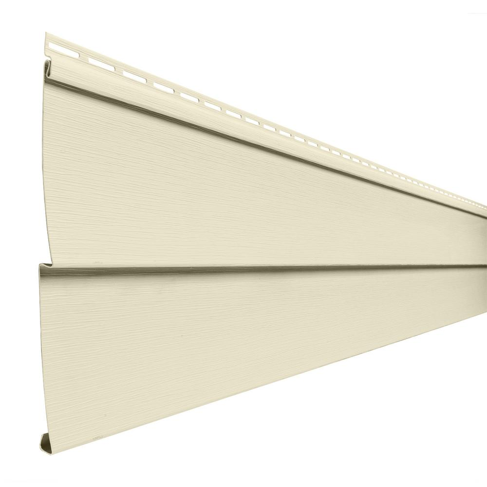 Double 5 in. x 144 in. Beige Vinyl Lap Siding