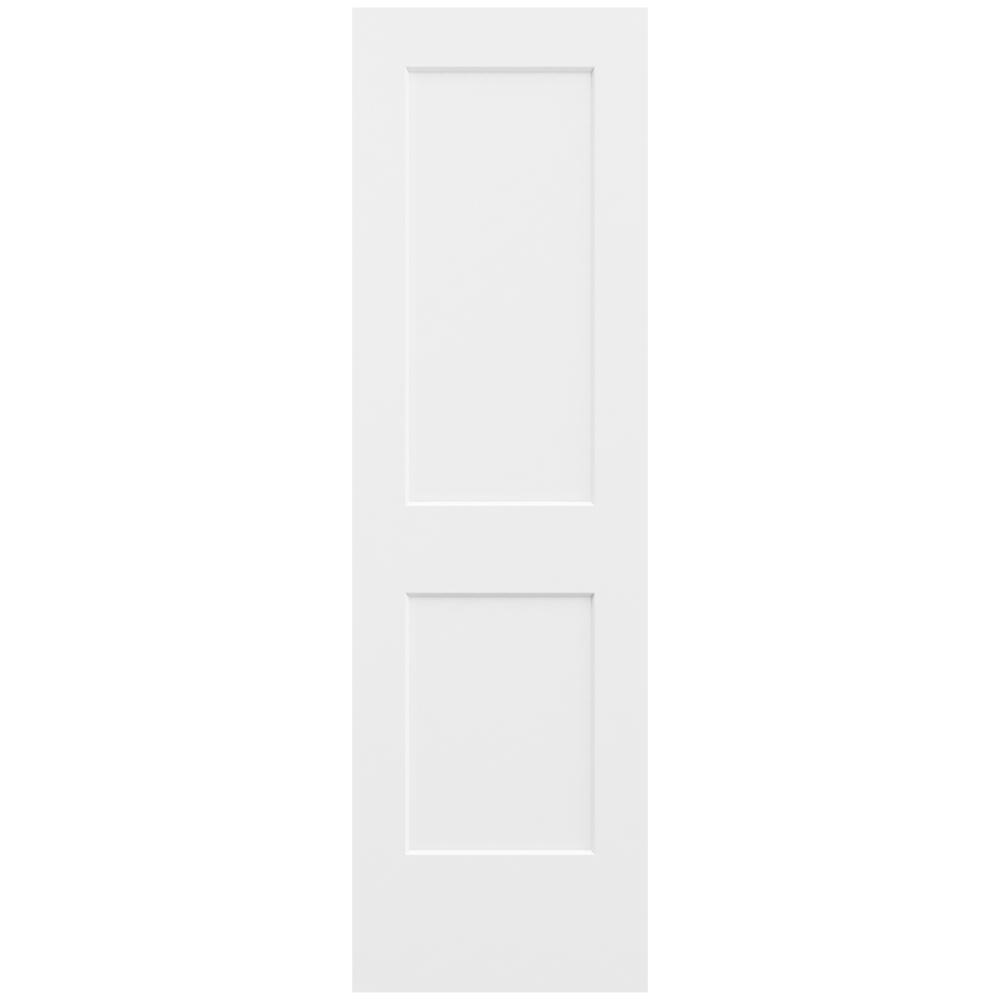 JELD-WEN 24 in. x 80 in. Monroe Primed Smooth Solid Core Molded Composite MDF Interior Door Slab