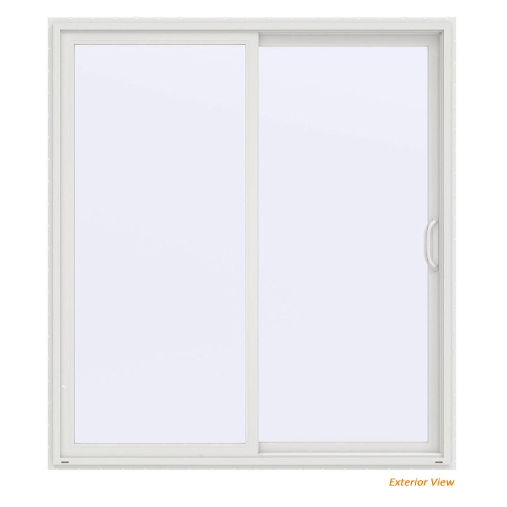 Jeld Wen 72 In X 80 In V 4500 Contemporary White Vinyl Right Hand