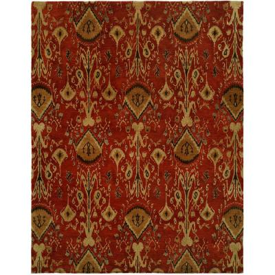 Heirloom Red 6 ft. x 9 ft. Area Rug