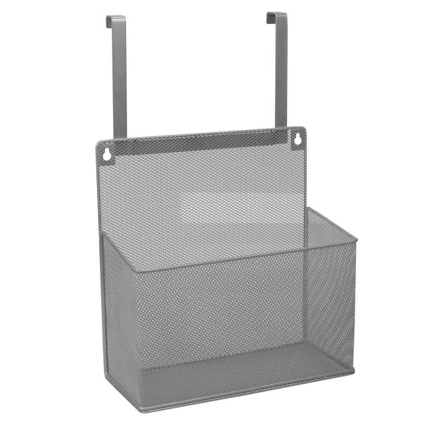 undefined Silver Over the Cabinet Mesh Steel Basket