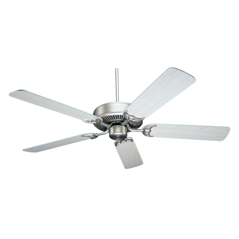 null NICOR Masterbuilder 52 in. Pewter Indoor Ceiling Fan with Silver Oak Blades